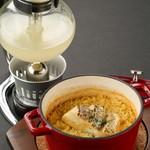 ■洋風鯛めし サイフォン仕立ての鯛スープをかけて