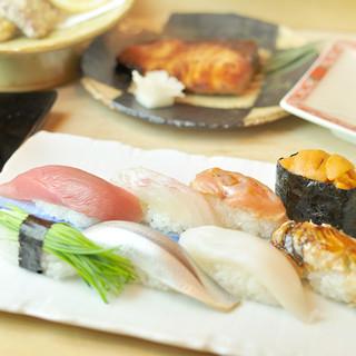 築地の魚は新鮮。その鮮度を味わう為、「漬け」の技術は不使用
