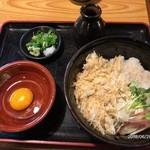 信州 - おろし蕎麦750円+生卵50円