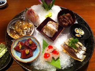 中島康三郎商店 - 蕎麦寿司他盛り合わせ