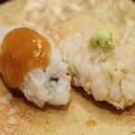 赤坂 詠月 - 鱧湯引き二種