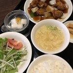 アオヤマ - 料理写真:酢豚セット 980円(税別)