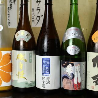 静岡の地酒をじっくりと味わう。創作料理との相性も抜群です◎