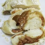 アズィーベーグル - 料理写真:バナナとアーモンド断面