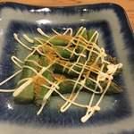 貝と炭火と日本酒 撓 - アスパラ焼き