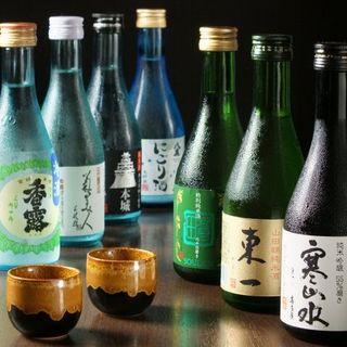 焼酎・日本酒の種類も豊富にご用意
