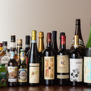 ワインだけでなく日本酒も♪【飲み放題付きコース】もご用意