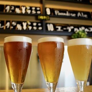 風味溢れる自家製ビールは5種類以上!時間に合わせた飲み放題も