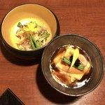 88435653 - ✿生湯葉の鼈甲餡かけ                       ✿蒸し鶏