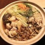 88435682 - ✿3種類の茸の鶏出汁鍋