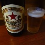 味噌ラーメン専門店 麺と人 - 瓶ビール