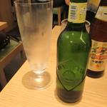 紀州清流担々麺 produce by KEISUKE - ドリンク写真:ビール