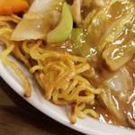 中華料理 唐韻 - あんかけ焼きそばの麺