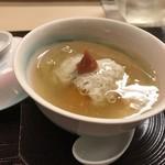 京料理かねき - カボチャ と鱧 の 蒸し饅頭
