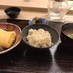 京料理かねき - 出汁巻卵と 生姜ご飯