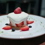 アライブラリー カフェ&ブックス - フレッシュストロベリーのショートケーキ☆