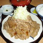 かつ亭 - しょうが焼き定食200g ¥1250