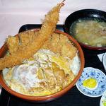 かつ亭 - オリジナル丼 チキンかつ丼、とんかつ、えびフライ  ¥1170