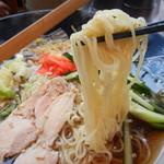 めんちゃんこ亭 - 弾力あるストレート細麺