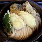 らんぷ若蔵 - 野菜天ぶっかけの大盛り