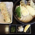 らんぷ若蔵 - 野菜天ぶっかけの大盛り+ちく天