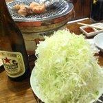 湘南BBQ - 赤星に山盛キャベツ