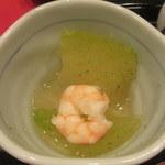 天一 - 小鉢は冬瓜と海老