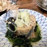 もつ焼きマーちゃん - 鯖水煮缶370円