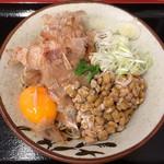 そばよし - 納豆そば(冷 490円)