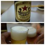 食事処 酒肴 水口 - 瓶ビール大 580円で乾杯♪