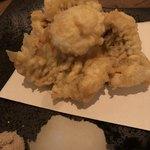 蕎麦前 小まつ - 鱧の天ぷら