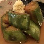 蕎麦前 小まつ - トロ茄子の餡かけ