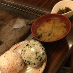花門亭 - +100円の定食はおにぎりorライス