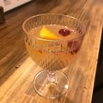 カレー クローバー - グラスワイン〔自家製サングリア)