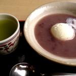 茶処 玉冨久 - クリームぜんざい(550円)