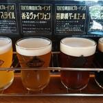 隅田川ブルーイング - クラフトビール飲みくらべ4種。