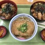 お食事処 どん丼 - うどん(550円)、照り焼き丼(680円)、チャーシュー丼(680円)_2018年6月