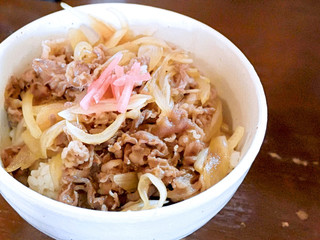 國安うどん - ミニ牛丼