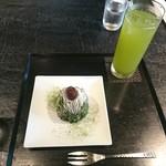 寿月堂 - 抹茶モンブラン&水出し煎茶