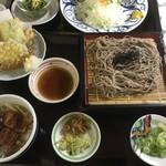どんと丸亀 - 料理写真:二八天ざるそばとミニうな丼セット(1,382円)_2018年6月