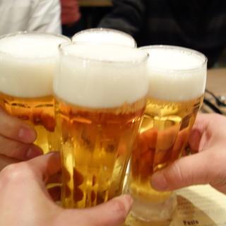 生ビール付き飲み放題2時間¥1500