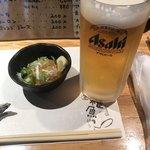 居酒屋 雑魚や - 料理写真:お通しとビール