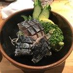 居酒屋 雑魚や - 自家製〆さば ¥750