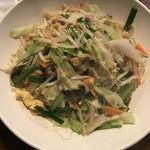 れんげ食堂 - 焼きビーフン 長めのビーフン 野菜はシャッキリ!