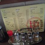 中川屋カレーうどん - ドリンクメニュー