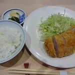 88499164 - とんかつヒレ+ご飯
