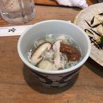 鳥やき 宮川 - 最後に、鶏出汁のスープ。