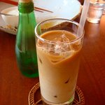 apa apa cafe - 食後のドリンク、アイスカフェオレ☆