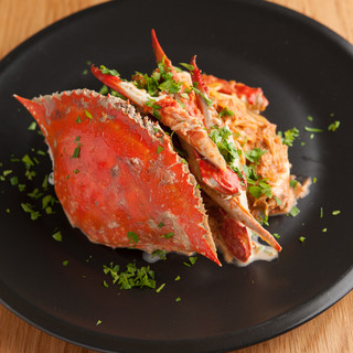 蟹の旨味たっぷり◎渡り蟹のトマトクリームソーススパゲッティ