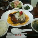 中国料理 桃花園 - ブリの唐揚げ黒酢ソースかけ